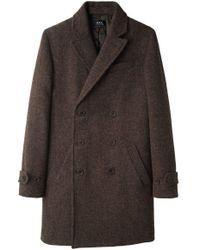 A.P.C. - Multicolor Tweed Blazer Coat - Lyst