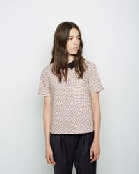 Band of Outsiders - Multicolor Windowpane Check T-shirt - Lyst
