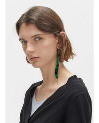 Lemaire - Green Long Plexi Earrings - Lyst