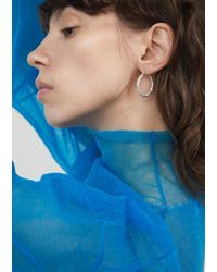 All_blues - Metallic Hungry Snake Earrings - Lyst