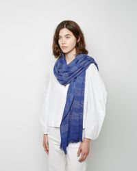 Rachel Comey - Blue Womenweave Cotton Scarf - Lyst