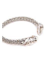 John Hardy - Metallic Diamond Silver Scaly Dragon Bracelet - Lyst