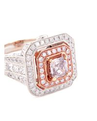 LC COLLECTION - Metallic Diamond 18k Gold Ring - Lyst