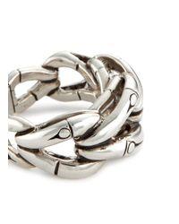 John Hardy - Metallic Silver Bamboo Loop Ring - Lyst