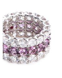 Roberto Coin - Metallic 'zaffiri Cento' Diamond Sapphire 18k White Gold Ring - Lyst