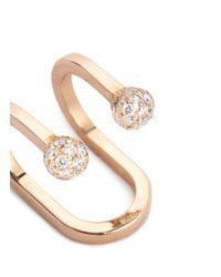 Kim Mee Hye - Multicolor 'double Rocker' Diamond 18k Rose Gold Lip Ring - Lyst