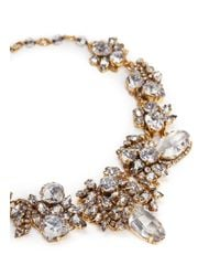 Erickson Beamon - White 'valley Of The Dolls' Swarovski Crystal Cluster Necklace - Lyst