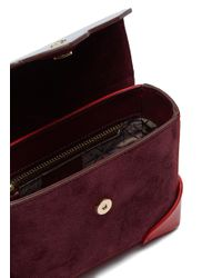 MANU Atelier Multicolor 'bold Combo' Micro Colourblock Leather And Suede Box Bag for men