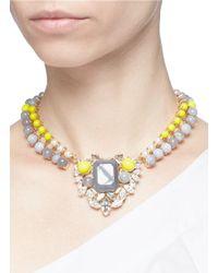 Anton Heunis - Multicolor 'amy 1.05' Swarovski Crystal Pearl Agate Heart Choker - Lyst