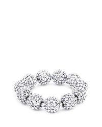 Kenneth Jay Lane - Metallic Glass Crystal Sphere Stretch Bracelet - Lyst