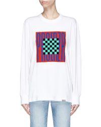 Proenza Schouler - White Pswl Graphic Print Long Sleeve T-shirt - Lyst