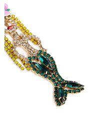 Elizabeth Cole - Multicolor 'mermaid' Swarovski Crystal Drop Earrings - Lyst
