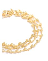 Kenneth Jay Lane - Metallic Tiered Branch Necklace - Lyst