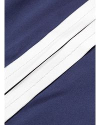 Dion Lee - Blue Stripe Outseam Silk Satin Wrap Pants - Lyst