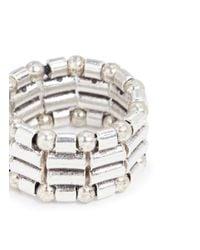 Philippe Audibert - Metallic Mixed Bead Elastic Ring - Lyst