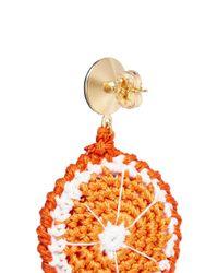 Venessa Arizaga - 'orange Slice' Rhinestone Crochet Fruit Drop Earrings - Lyst