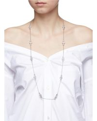 CZ by Kenneth Jay Lane | Metallic Cubic Zirconia Geometric Station Necklace | Lyst