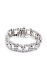 CZ by Kenneth Jay Lane - Metallic Deco Step Bridge' Cubic Zirconia Bracelet - Lyst