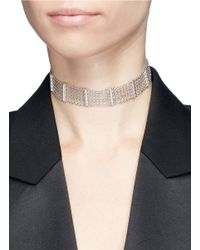 CZ by Kenneth Jay Lane - Multicolor Cubic Zirconia Bar Chain Choker - Lyst