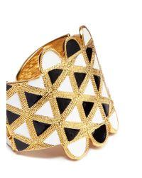 Kenneth Jay Lane - Metallic Geometric Pattern Bracelet - Lyst