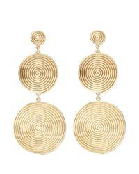 Elizabeth and James - Metallic 'lorelai' Spiral Coin Link Drop Earrings - Lyst