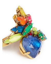 Erickson Beamon - Multicolor 'Splash' Neon Crystal Ring - Lyst