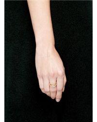 Phyne By Paige Novick - Metallic Lily' 18k Gold Diamond Pavé Curved Line Ring - Lyst