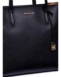 Michael Kors | Black 'mercer' Large Leather Tote | Lyst