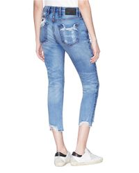 Tortoise - Blue 'savanna' Ripped Cropped Jeans - Lyst