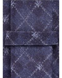 Isaia - Blue Coral Argyle Check Print Wool Tie for Men - Lyst