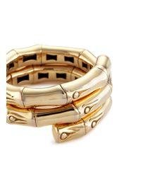 John Hardy - Metallic 18k Yellow Gold Bamboo Coil Ring - Lyst