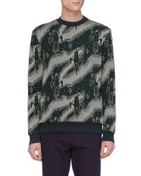 Maison Kitsuné - Green 'dream Amplifier' Graphic Jacquard Sweatshirt for Men - Lyst