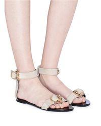 Stella Luna - Blue Buckled Strap Suede Sandals - Lyst