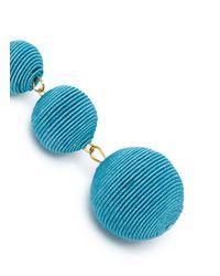Kenneth Jay Lane - Blue 'carnival' Threaded Sphere Drop Earrings - Lyst