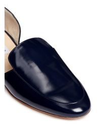 Gabriela Hearst - Blue 'francis' Spazzolato Leather D'orsay Loafers - Lyst