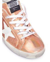 Golden Goose Deluxe Brand - Metallic 'superstar' Laminated Leather Sneakers - Lyst