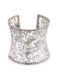 John Hardy | Metallic Sapphire 18k Yellow Gold Silver Naga Wide Cuff | Lyst