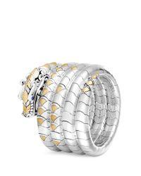 John Hardy - Metallic Sapphire 18k Yellow Gold Silver Four Row Bangle - Lyst