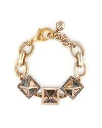 Lulu Frost | Metallic 'pyramides' Mix Gemstone Crystal Pavé Pyramid Stud Bracelet | Lyst