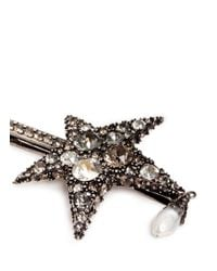 Alexander McQueen | Metallic 'surreal Obsession' Swarovski Crystal Star Hair Clip | Lyst