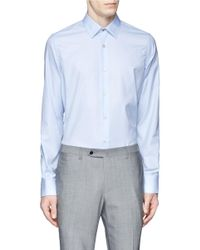 Paul Smith | Blue Cotton Twill Shirt for Men | Lyst