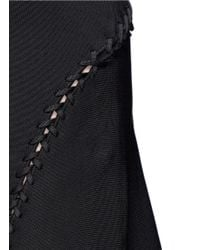 Alexander Wang - Black Laced Cutout Knit Dress - Lyst