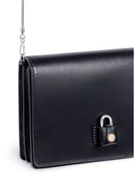 Alexander Wang - Black Padlock Pelican Sling Leather Cross-Body Bag - Lyst