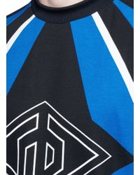 Rag & Bone - Multicolor 'optical Moto' Print Sweatshirt for Men - Lyst
