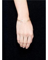 Phyne By Paige Novick   Metallic Olivia' 18k Gold Diamond Pavé Opal Cuff   Lyst