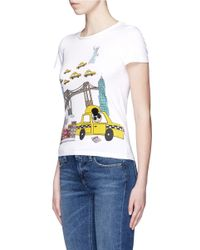 Alice + Olivia - Multicolor 'stacey In Nyc' Illustration T-shirt - Lyst