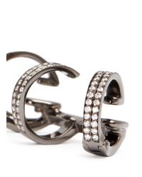 Repossi | 'berbre' Diamond Black Gold 3-hoop Ear Cuff | Lyst