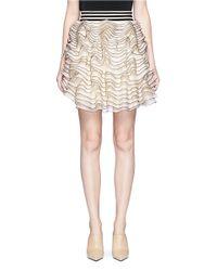 Alexander McQueen | White 3d Ruffle Mesh Knit Mini Skirt | Lyst