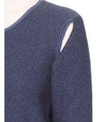 Ports 1961 - Blue Tassel Tie Cutout Sweater - Lyst