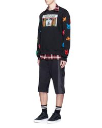 Haculla | Black 'tecknikcolor' Vintage Print Floral Appliqué Sweatshirt for Men | Lyst